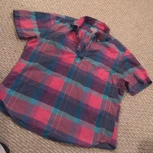 Men's half button shirt